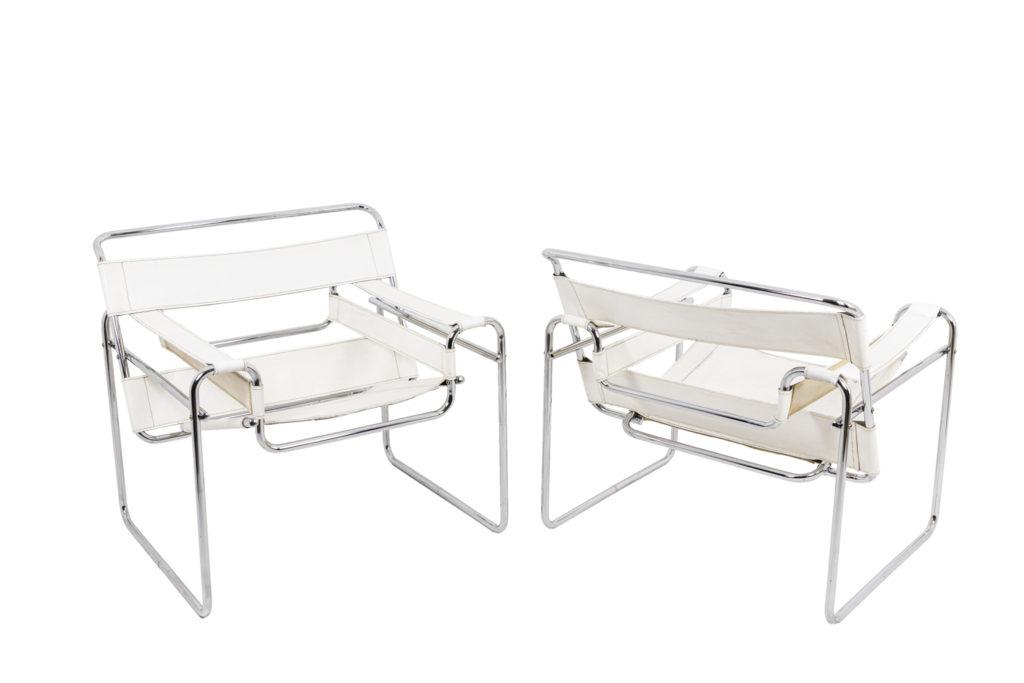 Marcel Breuer, paire de fauteuils «Wassily», années 1960
