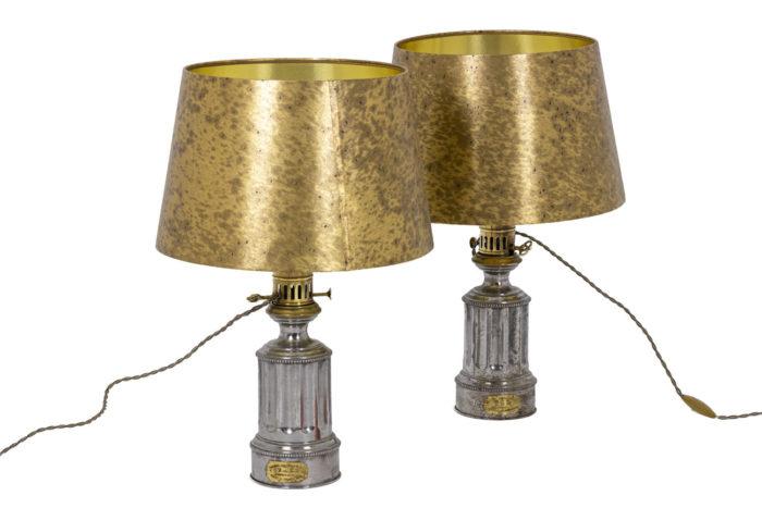 Pair of lamps in metal