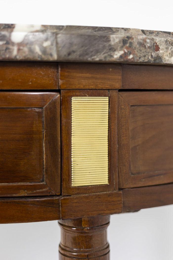 Console, détail tiroir 1