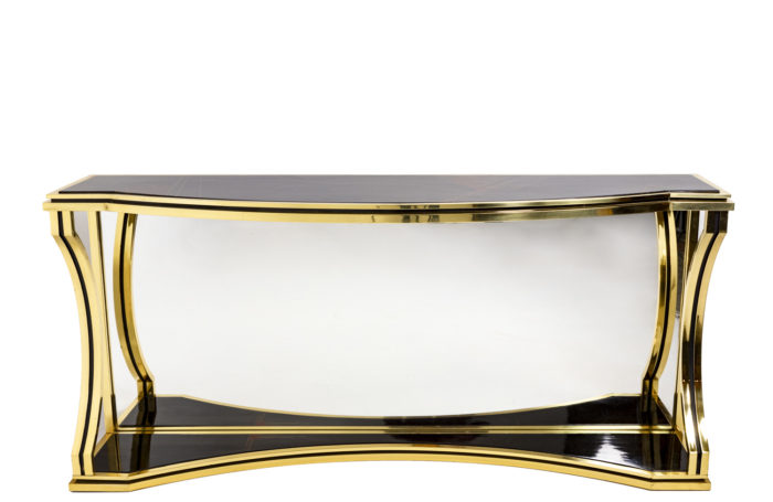 Console in gilt brass 1