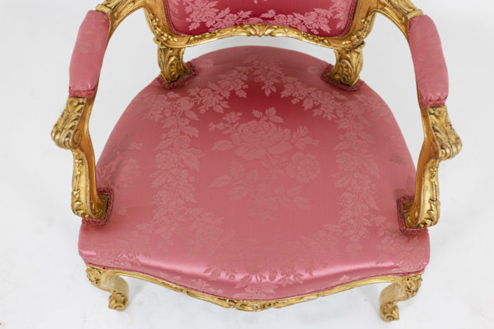 Pair of pink armchairs 10