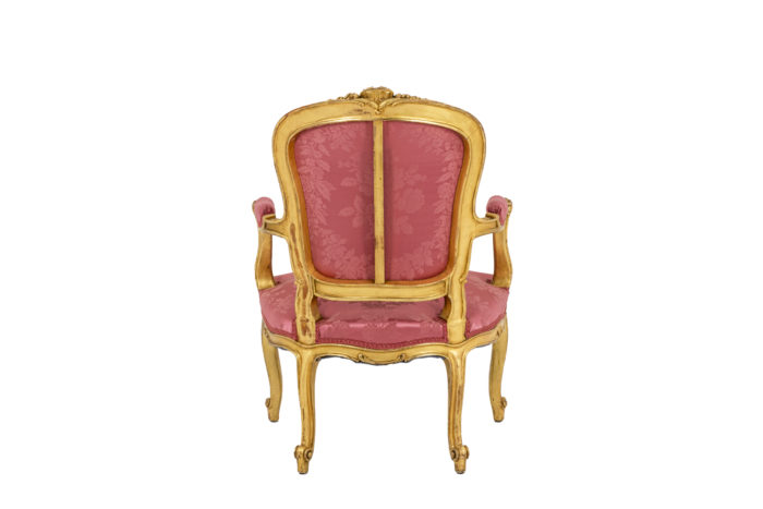 Pair of pink armchairs 5