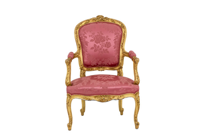 Pair of pink armchairs 3