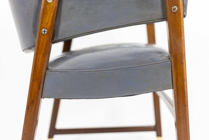 Paire de fauteuils, détail siège 4