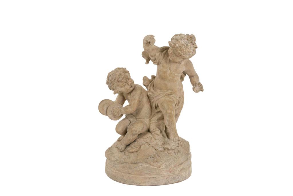 Sylvain Kingsburger, Sculpture en terre cuite, XIXème siècle