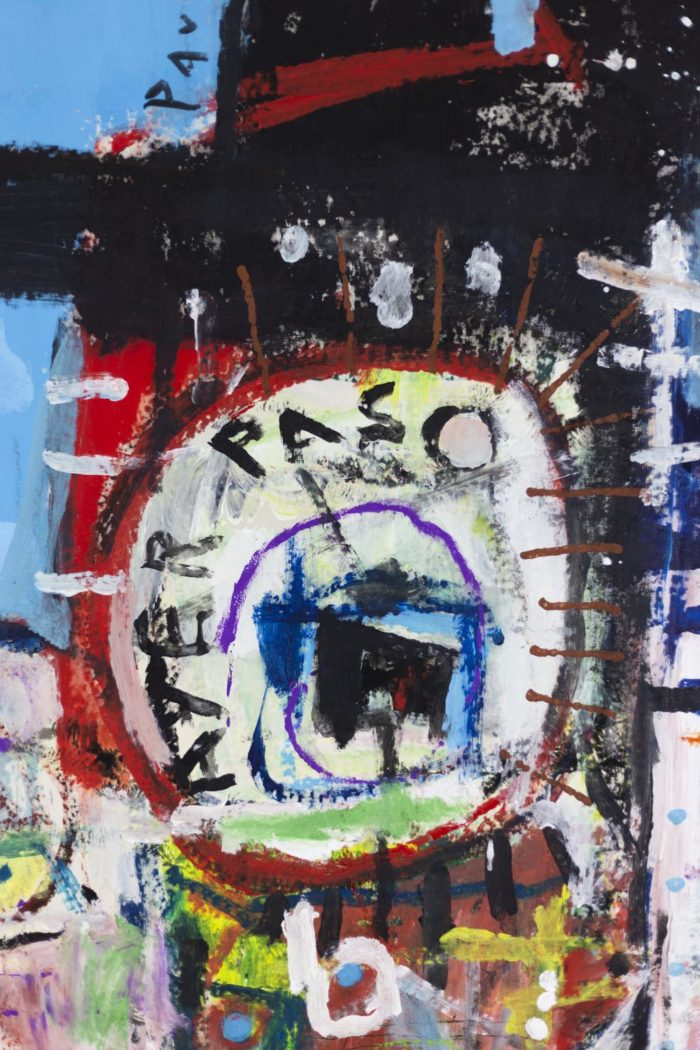 Dimitris Pavlopoulos, Asesinos en serie #5, acrylic on canvas 4