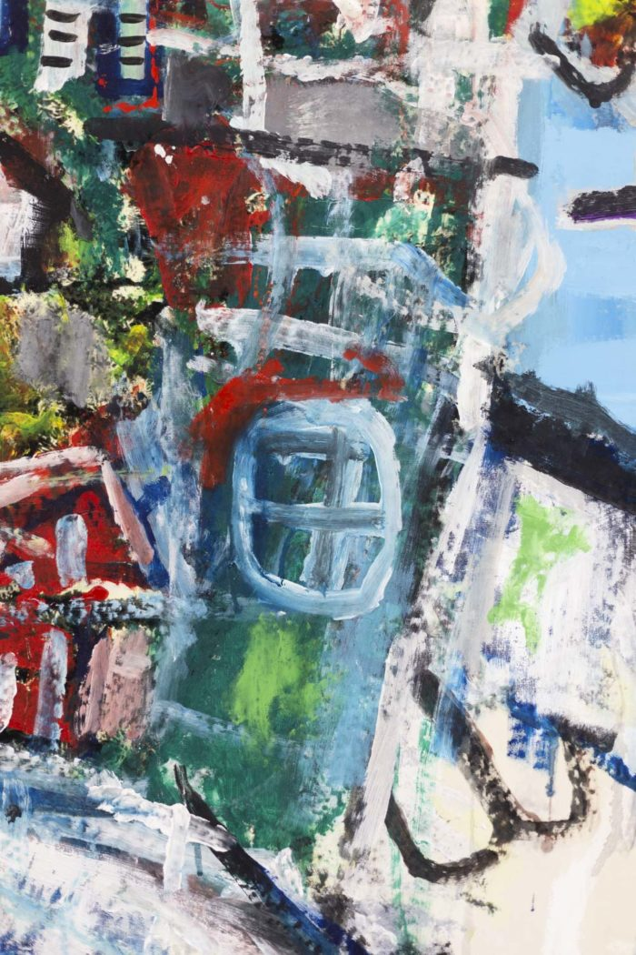 Dimitris Pavlopoulos, Asesinos en serie #5, acrylic on canvas 6