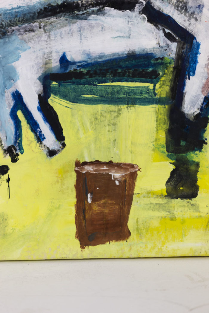 Dimitris Pavlopoulos, Asesinos en serie #5, acrylic on canvas 7
