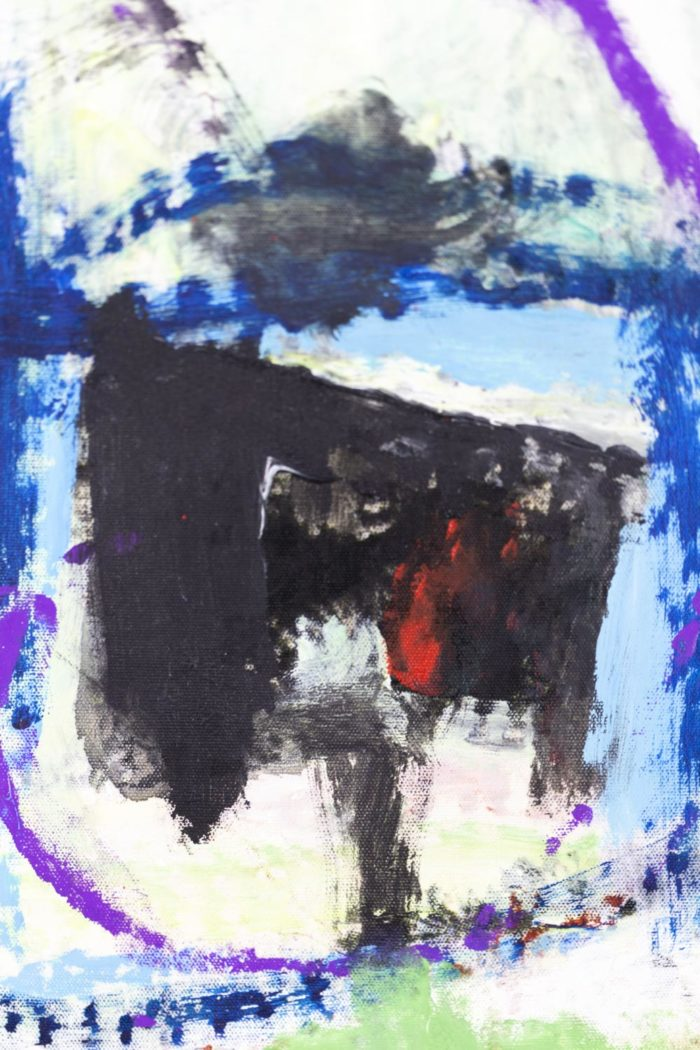 Dimitris Pavlopoulos, Asesinos en serie #5, acrylic on canvas 8