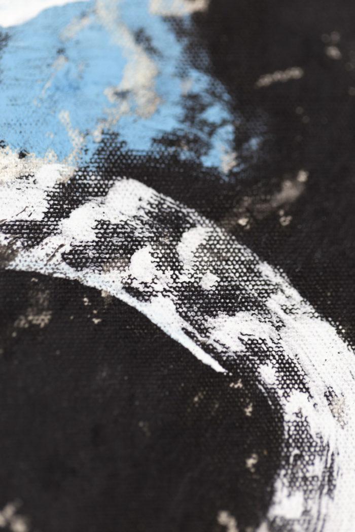 Asesinos en serie #5, acrylique sur toile, détails 6