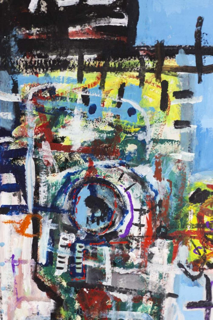 Dimitris Pavlopoulos, Asesinos en serie #5, acrylic on canvas 13