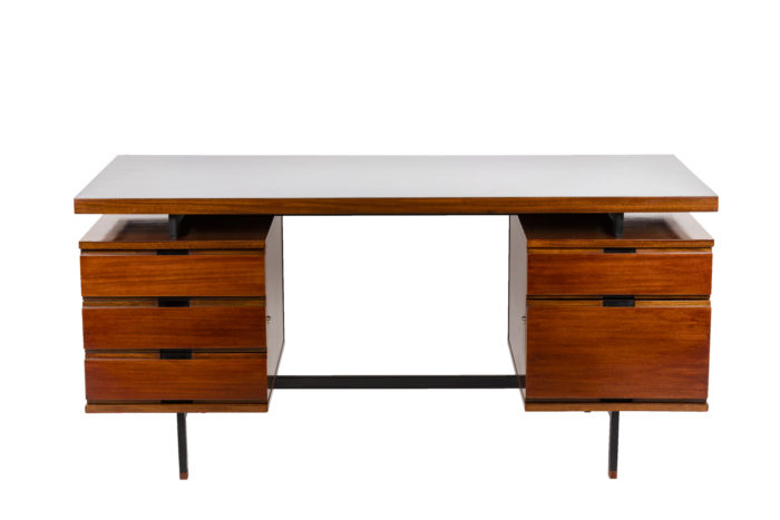 Pierre Guariche, Desk in mahogany and lacquered metal 9