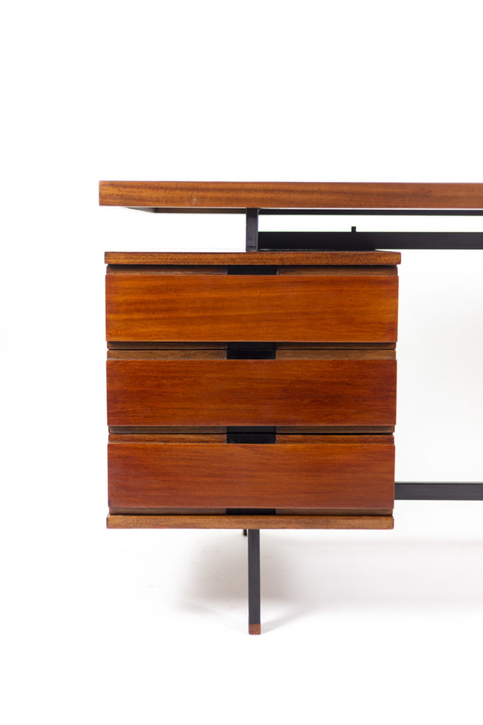 Pierre Guariche, Desk in mahogany and lacquered metal 3