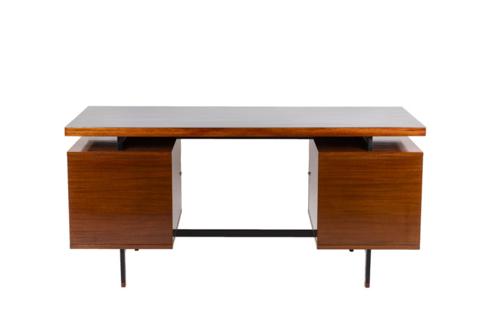 Pierre Guariche, Desk in mahogany and lacquered metal 6