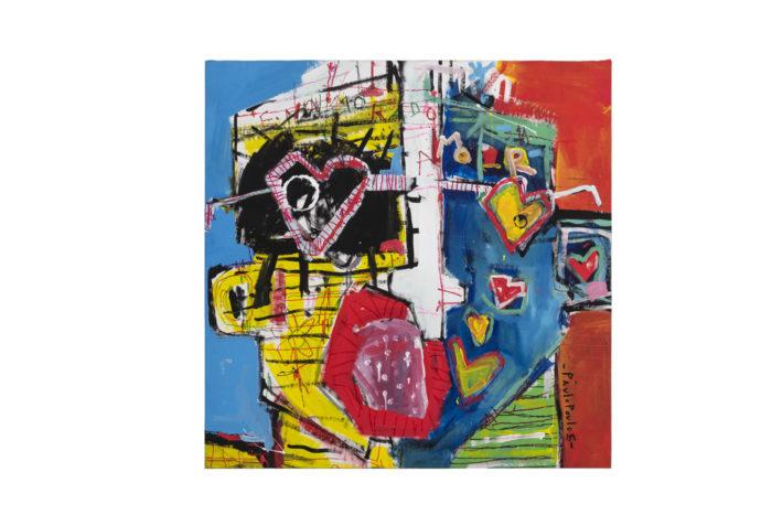 Dimitris Pavlopoulos, Enamorado # 7, acrylic on canvas