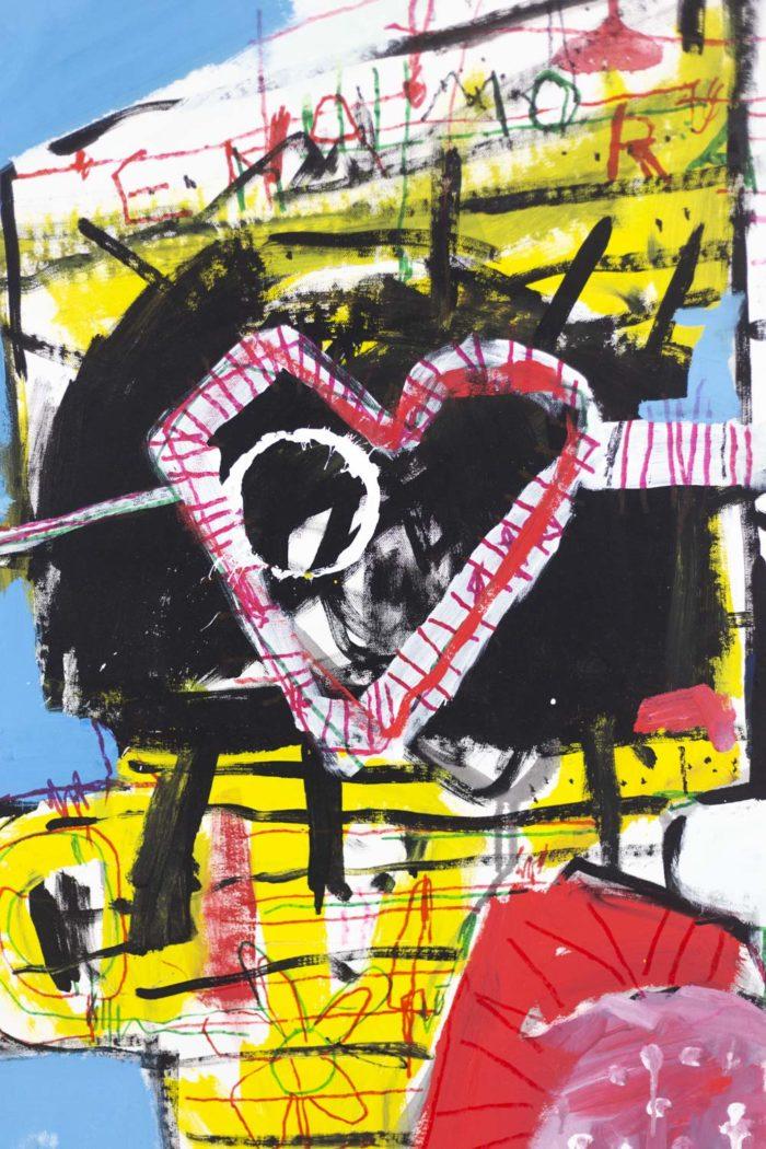 Dimitris Pavlopoulos, Enamorado # 7, acrylic on canvas 2