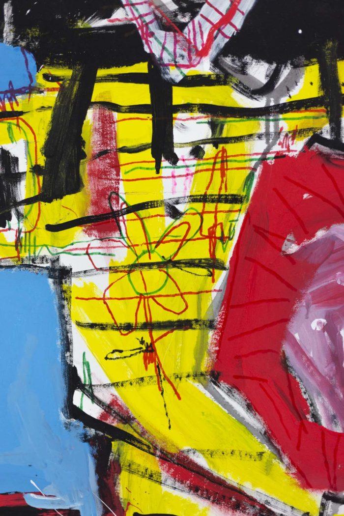 Dimitris Pavlopoulos, Enamorado # 7, acrylic on canvas 3