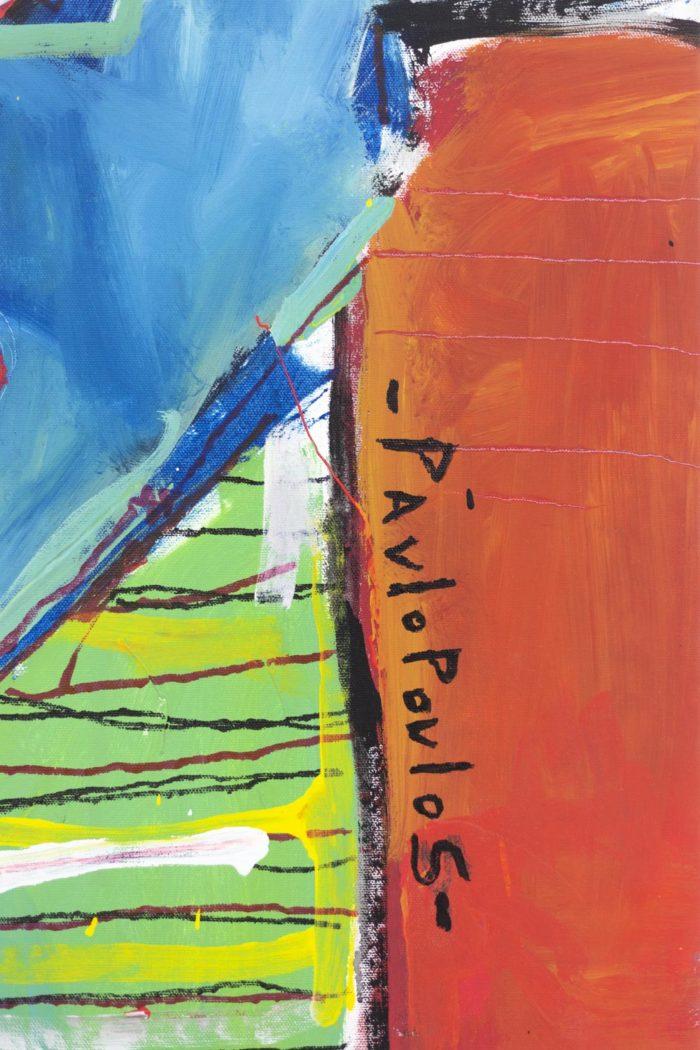 Dimitris Pavlopoulos, Enamorado # 7, acrylic on canvas 4