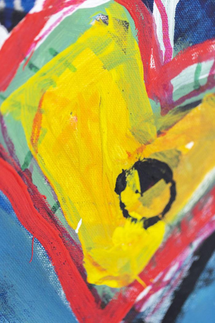 Dimitris Pavlopoulos, Enamorado # 7, acrylic on canvas 6