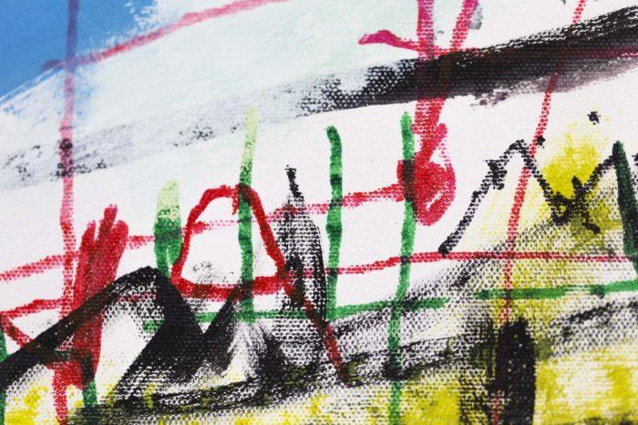 Dimitris Pavlopoulos, Enamorado # 7, acrylic on canvas 8