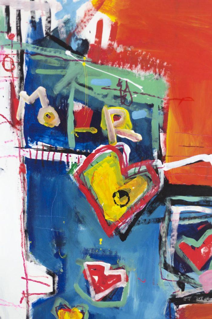Dimitris Pavlopoulos, Enamorado # 7, acrylic on canvas 9