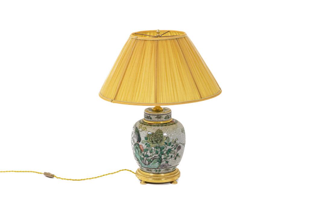 Lamp in Samson porcelain and gilt bronze, 19th century