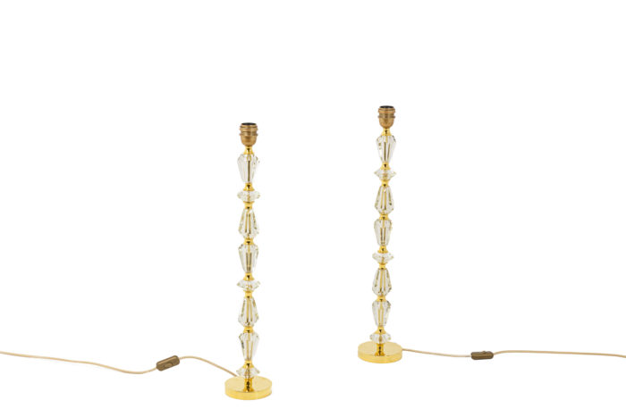 Pair of lamps in glass 6