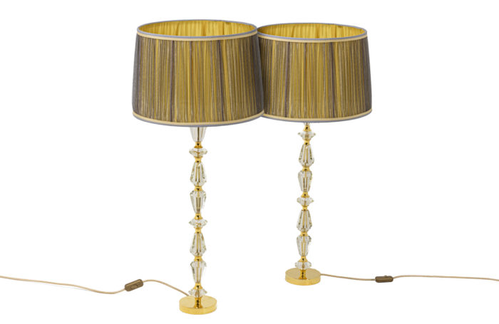 Pair of lamps in glass 1