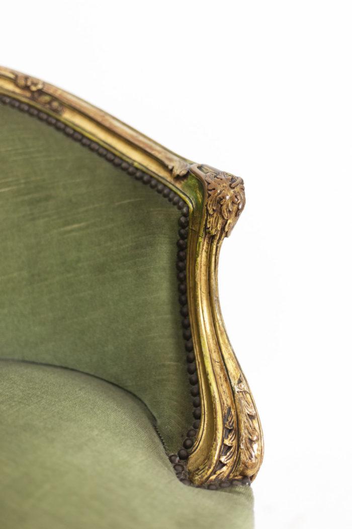 Pair of Louis XVI style low bergeres 5