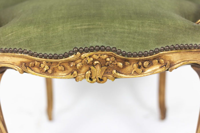 Pair of Louis XVI style low bergeres 6