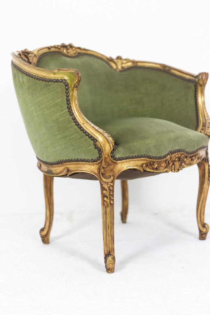 Pair of Louis XVI style low bergeres 7