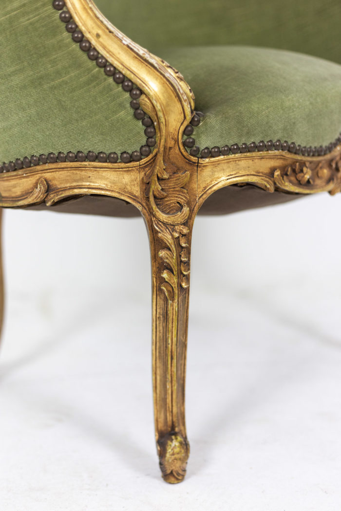 Pair of Louis XVI style low bergeres 8