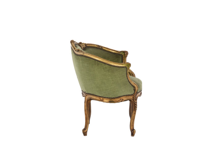 Pair of Louis XVI style low bergeres 2