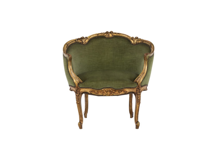 Pair of Louis XVI style low bergeres 10