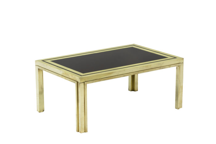 Pair of end tables in gilt brass 2