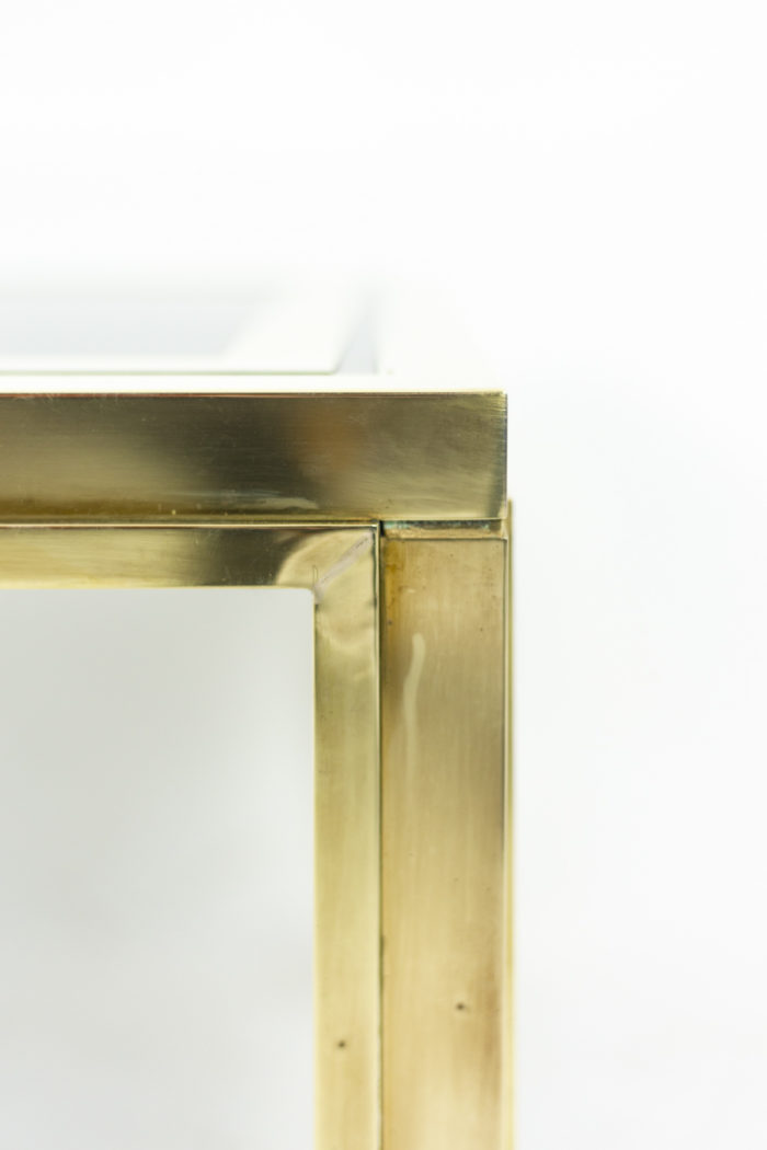 Pair of end tables in gilt brass 7