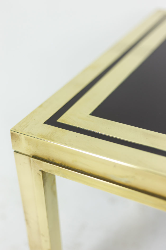 Pair of end tables in gilt brass 6