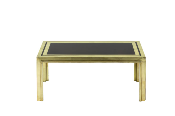 Pair of end tables in gilt brass 4