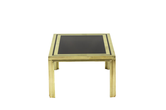 Pair of end tables in gilt brass 3