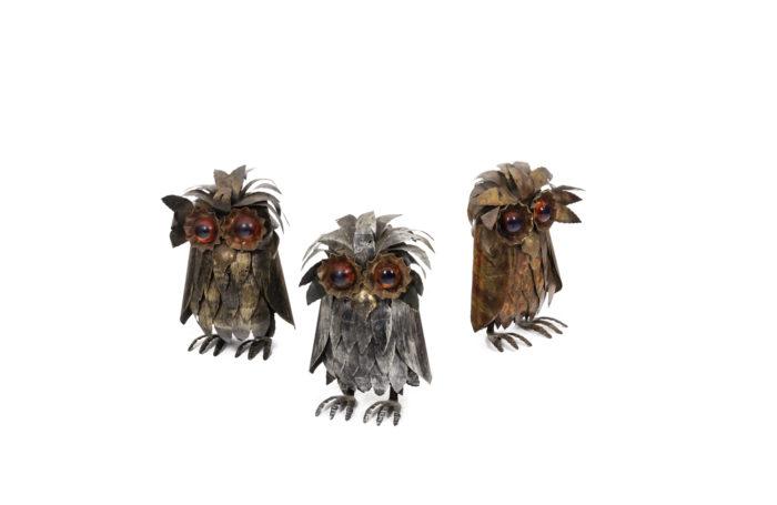 Owls in metal 1