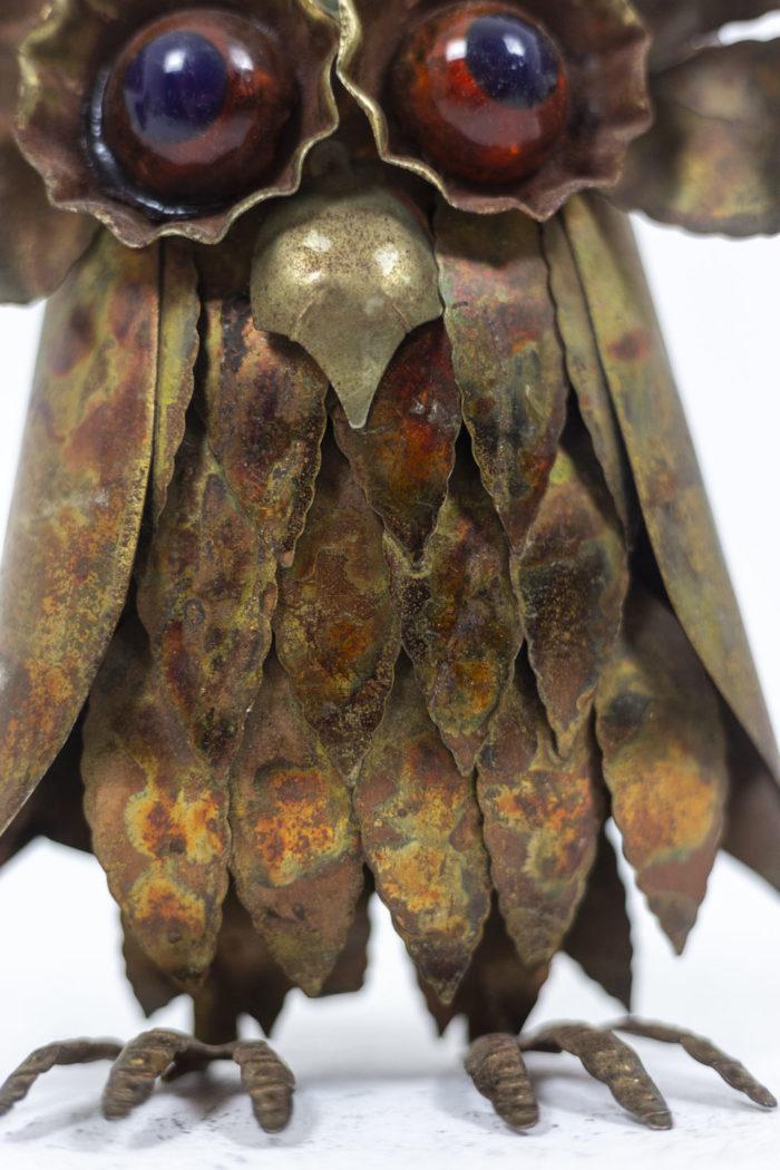 Chouettes en feuilles de métal, détails 3