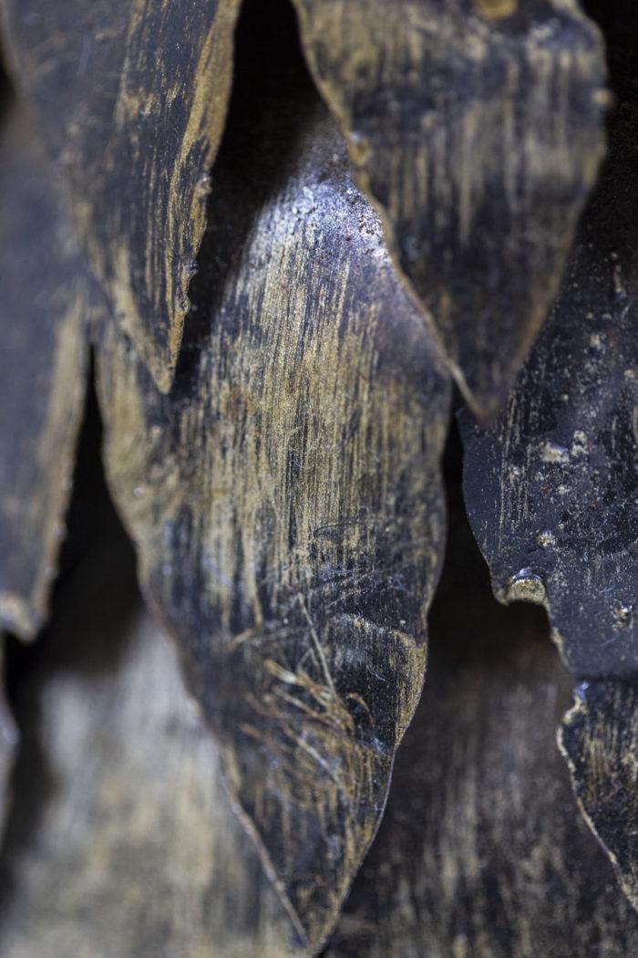 Chouettes en feuilles de métal, détails 7