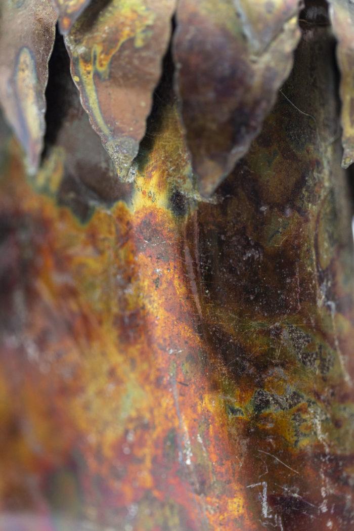Chouettes en feuilles de métal, détails 8