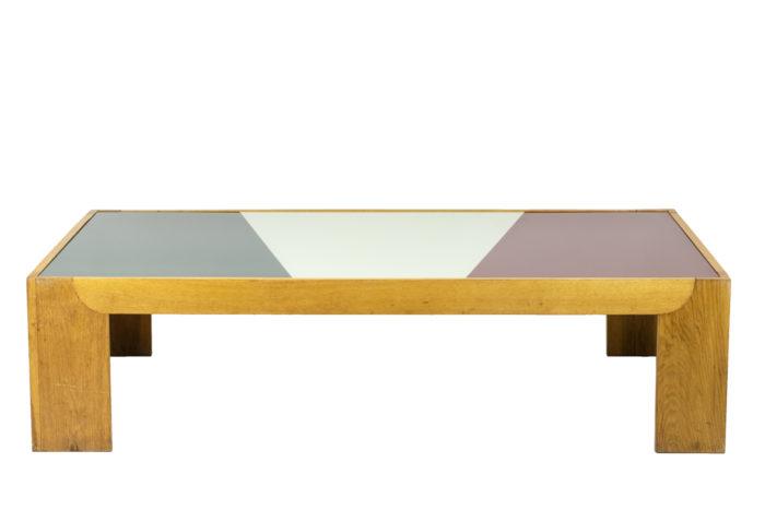 Wide coffee table in oak 2