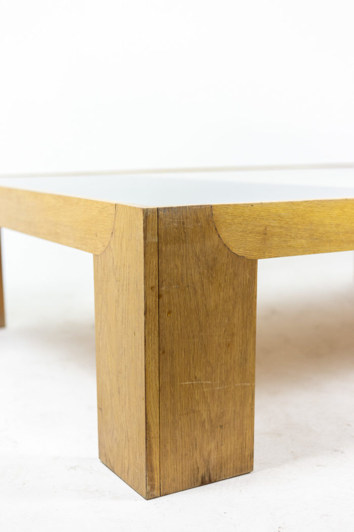 Wide coffee table in oak 5