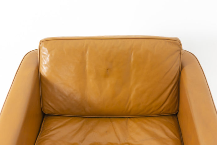 Horst Brüning, pair of armchairs in leather 7
