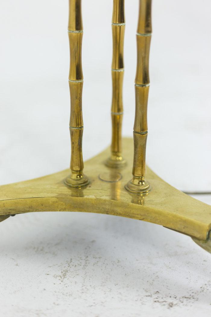 Lampadaire tripode à décor de bambou, détails 2