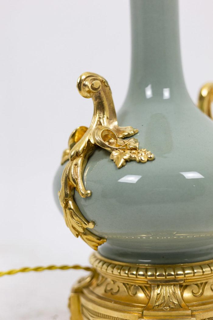 Pair of lamps in celadon porcelain 3