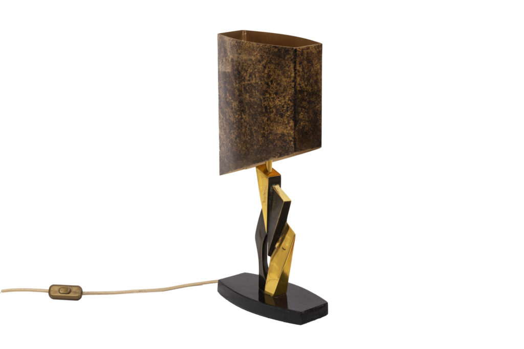 Lamp in gilt bronze and medal patina, 1970's