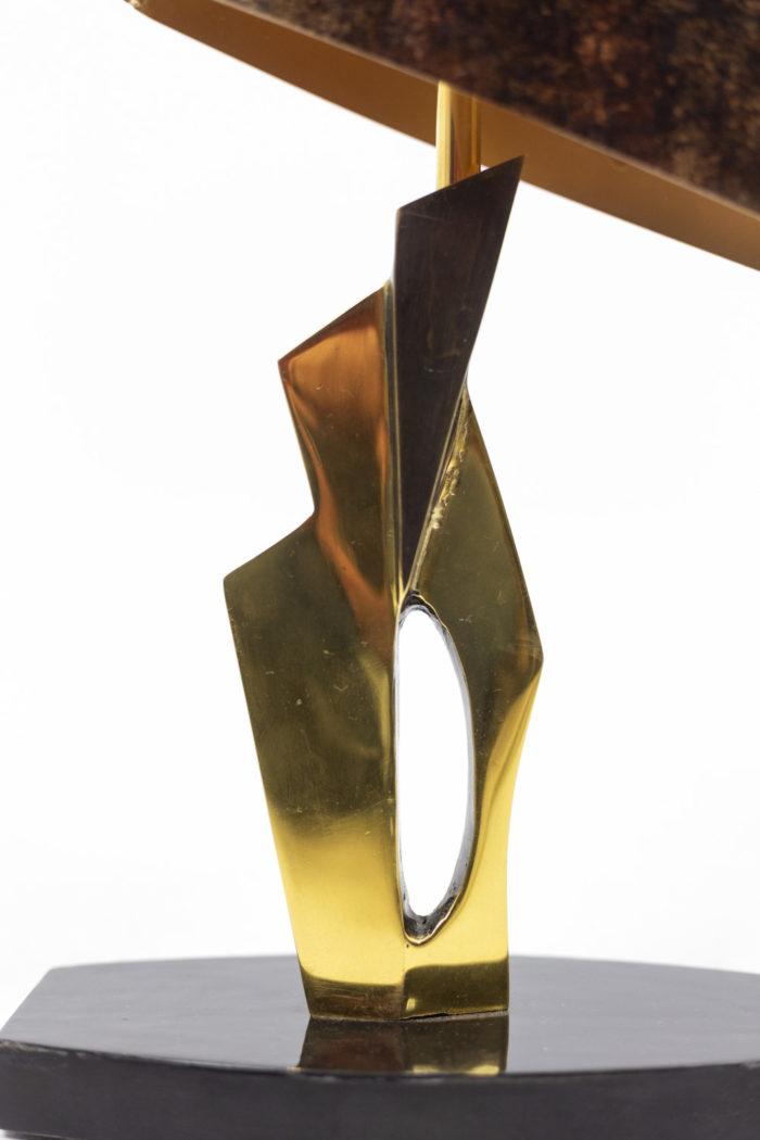 Lampe en bronze et patine médaille, détails 2